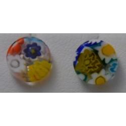 boucles d'oreilles puces mosaiquo Verre Murano collection prestige