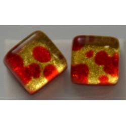 Boucles d'oreilles puces fusion Verre Murano