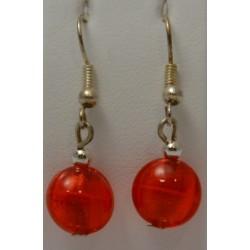 Boucles d'oreilles pendantes bombées Verre Murano