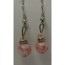 Boucles d'oreilles pendantes Verre Murano collection classica