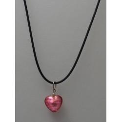 Pendentif petit Coeur en de Verre Murano
