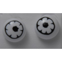 Boucles d'oreilles puces murrines  Verre Murano