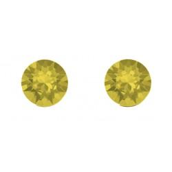 Boucles d'oreilles puces RONDES 6 mm indicolite